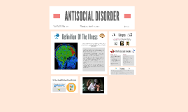 ANTISOCIAL DISORDER