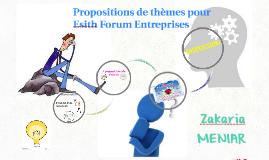 Propositions de thèmes pour le forum