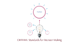 CRITERIA: Standards for Decision Making