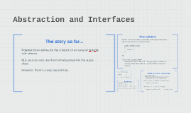 Abstraction and Interfaces