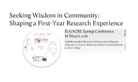 Wisdom in Community