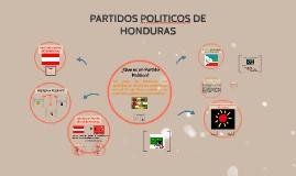 PARTIDOS POLITICOS DE HONDURAS