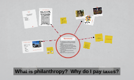 What is philanthropy?  Why do I pay taxes?