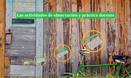 Las actividades de observación y práctica docente