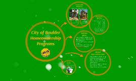 City of BoulderHomeownership ProgramsCity of BoulderHomeow