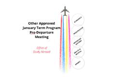 Co-Sponsored J-Term Pre-Departure Meeting