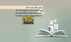 LEY 100 DE 1.993