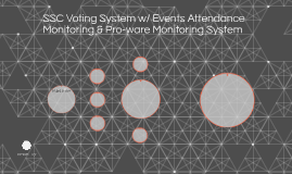 SSC Voting System w/ Events Attendance Monitoring & Pro-ware