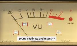 Sound Loudness & Intensity