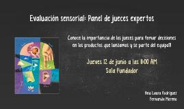 Evaluación sensorial: Panel de jueces expertos