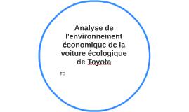 Analyse de l'environnement économique de la voiture écologiq