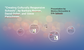 """Creating Culturally Responsive Schools"", by Barbara Bazron,"