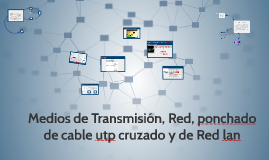 Medios de Transmision, Red, ponchado de cable utp cruzado