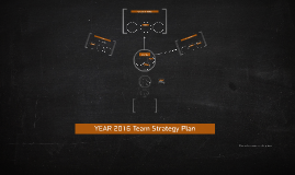 2016 Team Strategy Plan