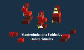 Mantenimiento a Unidades Habitacionales