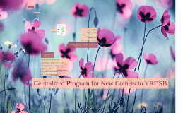 Centralized Program