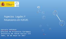 JAEN, Sesión Aspectos Legales y Financieros de H2020
