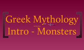 Greek Mythology Intro pt.4 - Monsters