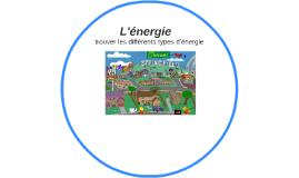 Les Types d'énergie