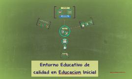 Entorno Educativo de calidad en Educacion Inicial