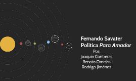 """Fernando Savater Politica Para Amador"""""""