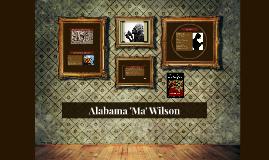 Alabama Wilson: Character Poster