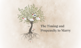 The Timing and Propensity to Marry