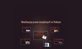 Realizacja praw socjalnych w Polsce