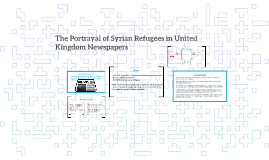 The Portrayal of Syrian Refugees in the Daily Mail and the G