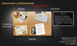 Autonomía y Heteronomía