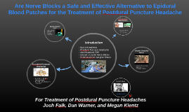 Postdural Puncture Headaches
