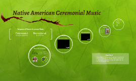 Native American Ceremonial Music