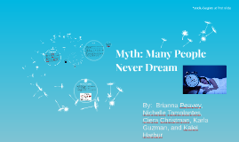 Myth: Many People Never Dream