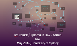 Lec Course/Diploma in Law - Admin Law