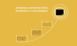 DIFERENCIA ENTRE ENCUESTA, ENTREVISTA Y CUESTIONARIO