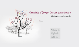 Case study of Google: One best places to work