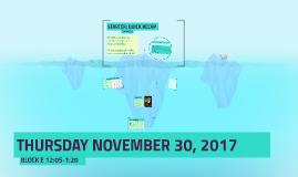 THURSDAY NOVEMBER 30, 2017