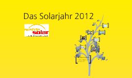 Das war das Solarjahr 2012