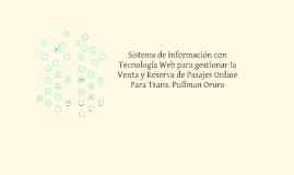Copy of Copy of SISTEMA DE VENTA Y RESERVA DE PASAJES