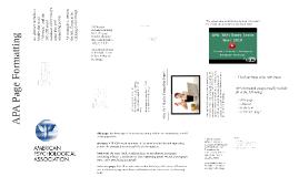 APA Page Formatting