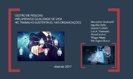 GESTÃO DE PESSOAS: