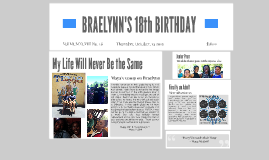 ATTENTION: TODAY IS BRAELYNN'S 18th BIRTHDAY