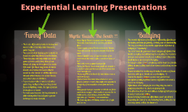 Experiential Learning Presentations
