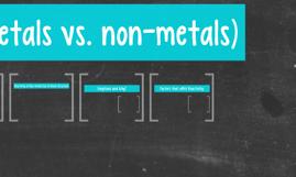 Reactivity (metals vs. non-metals)