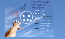 How to make paper airplane DarekB Mini IP
