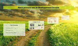 Notre parcour vers le Développement Durable