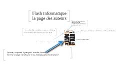 Copy of Flash informatique: la page des auteurs
