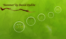 """setting in summer by david updike According to scholar david r maines, """"through  regardless of setting,  updike's novels spoke to me as a  decadessummer's most."""