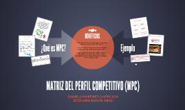 MATRIZ DEL PERFIL COMPETITIVO (MPC)