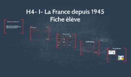 H4- I- La France depuis 1945 (fiche élève)